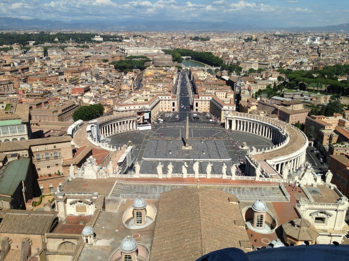 Italy - View from the top of St. Peter's Dome